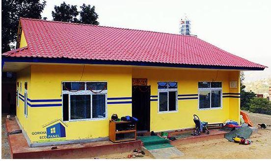 नेपालमा प्रिफ्याब घरको निर्माण