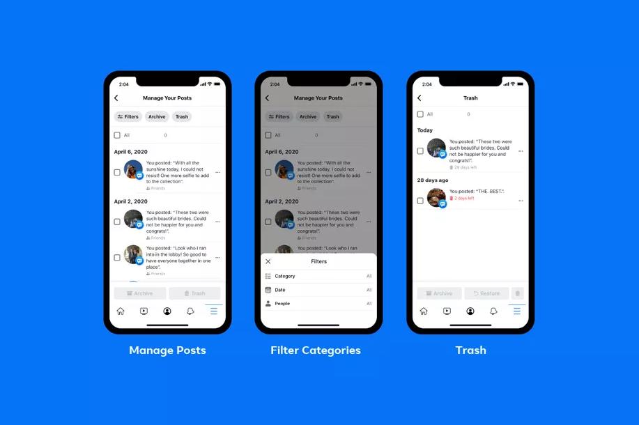 फेसबुकका पुराना पोस्टहरू डिलिट गर्न सजिलो बन्दै !