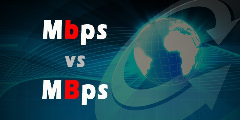 Mbps र MBps को भिन्नता