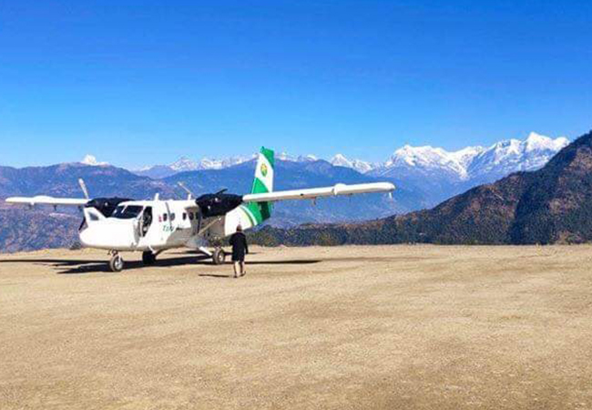चण्डेश्वरी विमानस्थलमा परीक्षण उडान