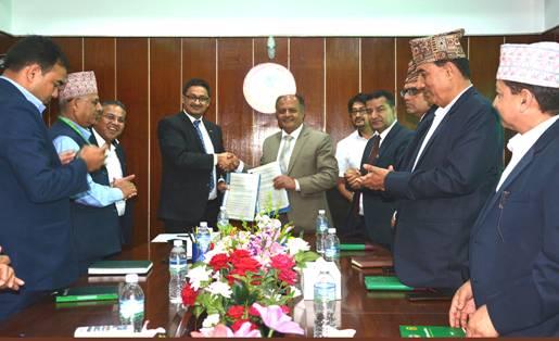 कृषि विकास बैंक र राष्ट्रिय सहकारी बैंकबीच सम्झौता