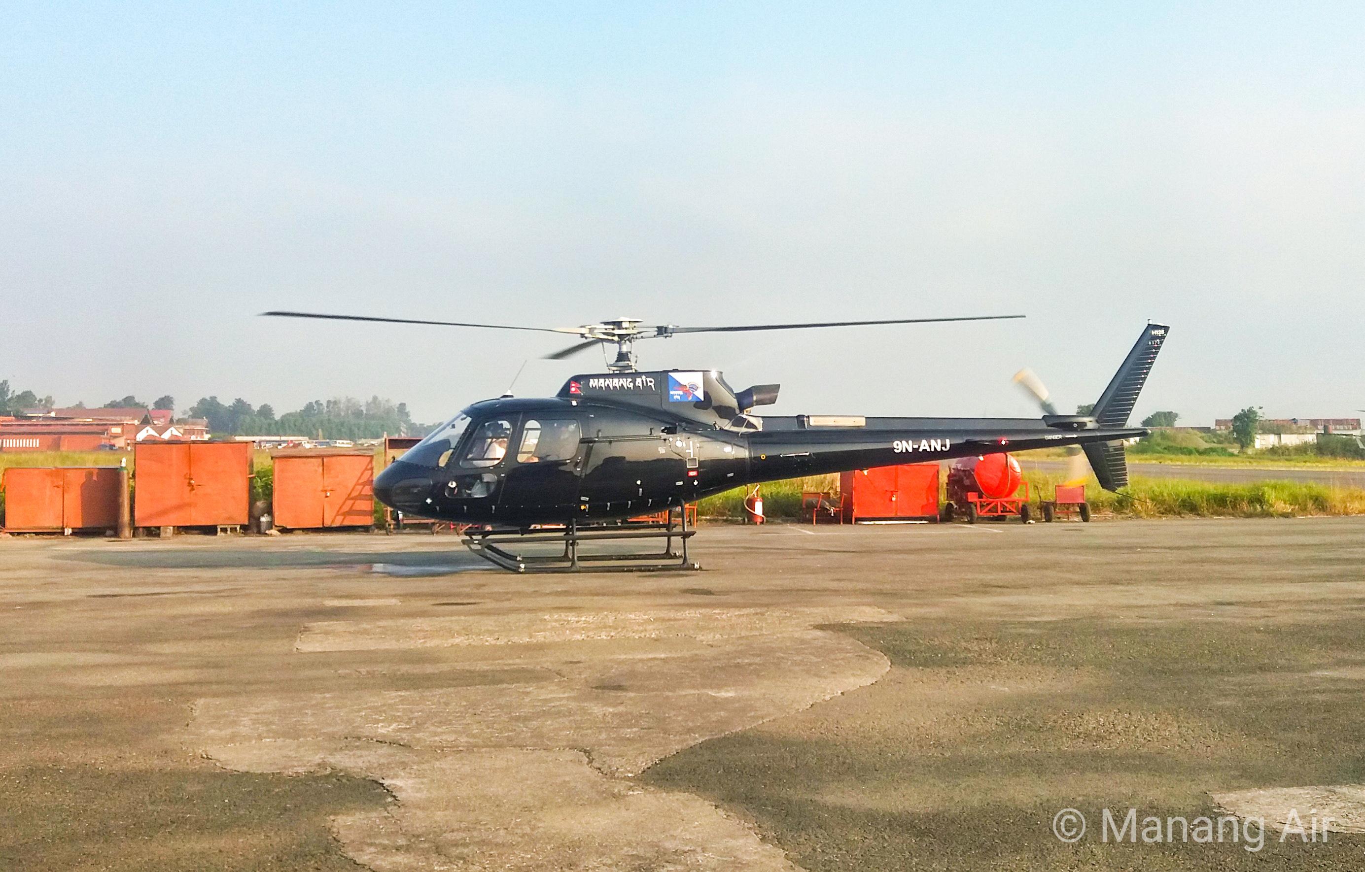 मनाङ एयरको नयाँ हेलिकप्टरबाट उडान सुरु